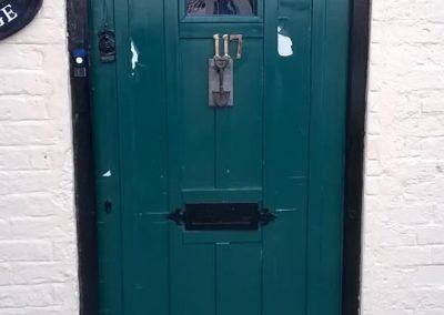 Original front door.