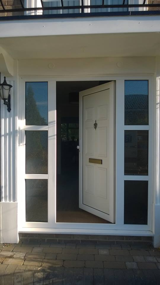 PVc White Door With Sidelights, All To Be Replaced.