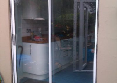 Old sliding patio doors ...