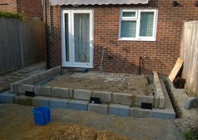 Conservatory groundworks