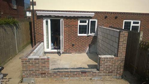 Conservatory brickwork